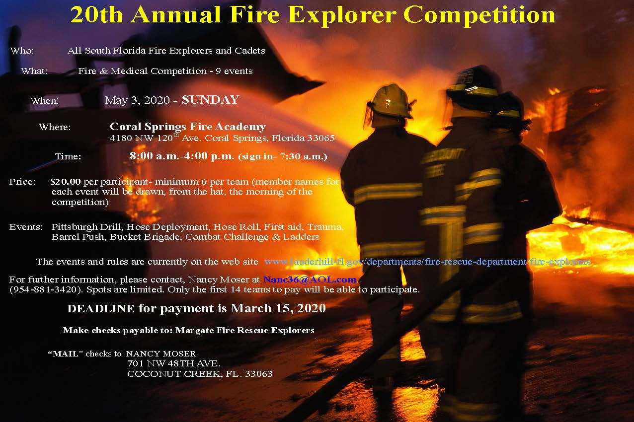 20th Annual Fire Explorer Competition